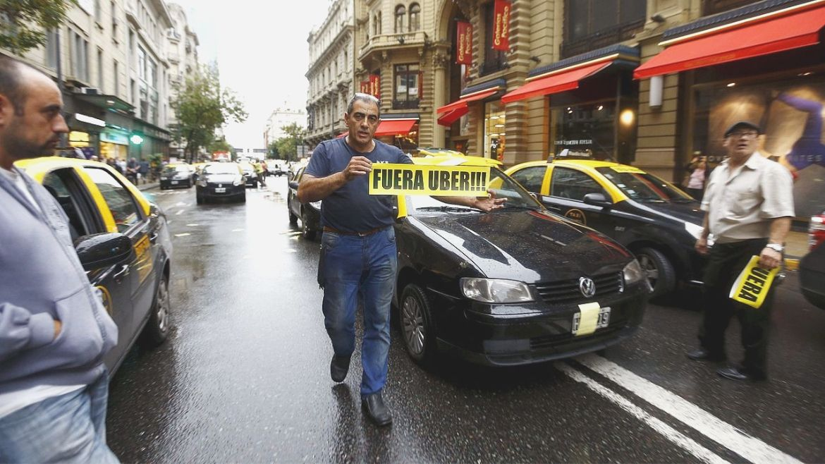 protests against uber